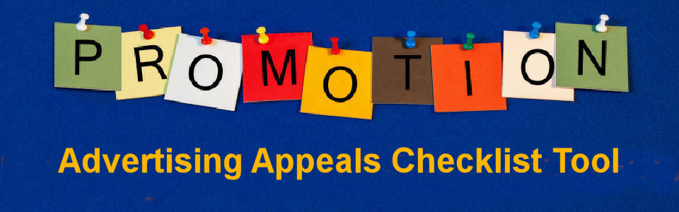 DWS Associates Advertising Appeals Checklist Tool